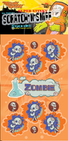 Zombie Dr. Stinky Scratch -N-Sniff Stickers (2 sheets)