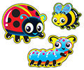Bug Buddies Licorice Scented Scratch 'n Sniff Mixed Shape Stinky Stickers *NEW!
