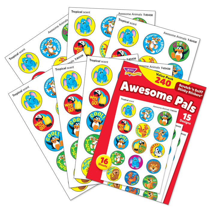Awesome Pals Scratch 'n Sniff Stinky Stickers Variety Pack (240 stickers) *NEW!