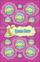 Cough Drop Dr. Stinky Scratch-N-Sniff Stickers (2 sheets) *NEW!