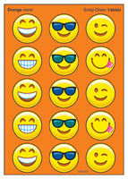Emoji Cheer Orange Scented Scratch 'n Sniff Stinky Stickers *NEW!