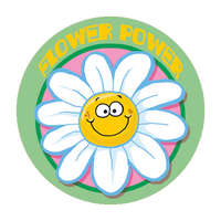 Flower Power Dr. Stinky Scratch -N-Sniff Stickers (2 sheets)