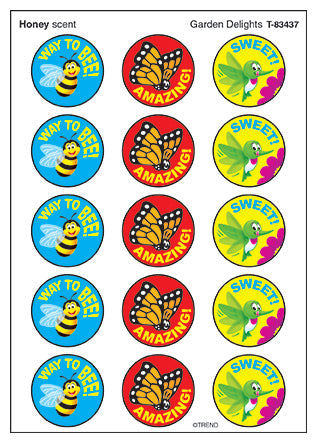 Garden Delights Honey Scented Scratch 'n Sniff Stinky Stickers *NEW!
