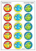 School of Fish Scratch 'n Sniff Stinky Stickers (Sea Breeze Scent)