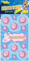 Cotton Candy Dr. Stinky Scratch -N-Sniff Stickers (2 sheets)