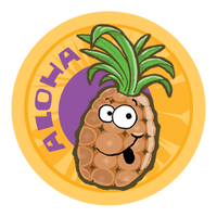 Pineapple Dr. Stinky Scratch-N-Sniff Stickers