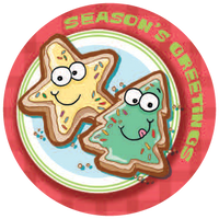 Christmas Cookies Dr. Stinky Scratch-N-Sniff Stickers (2 sheets)