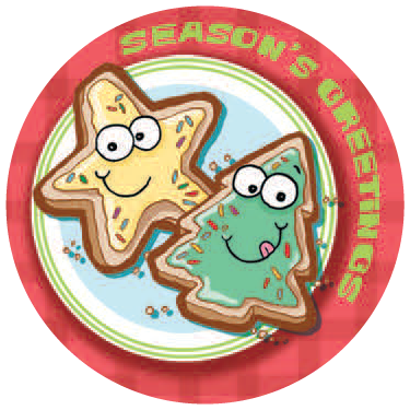 Christmas Cookies Dr Stinky Scratch N Sniff Stickers