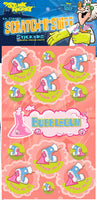 Bubblegum Dr. Stinky Scratch -N-Sniff Stickers (2 sheets)