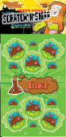 Dirt Dr. Stinky Scratch -N-Sniff Stickers (2 sheets)