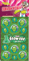 Blow Pop Sour Apple Dr. Stinky Scratch -N-Sniff Stickers *NEW!