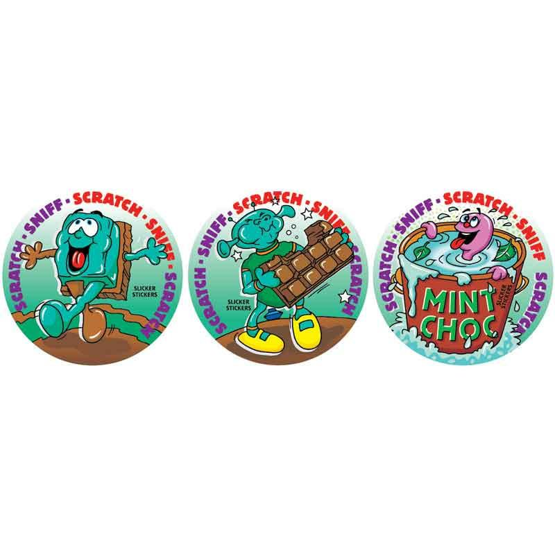 Chocolate Mint Scratch & Sniff Smelly Stickers *NEW!