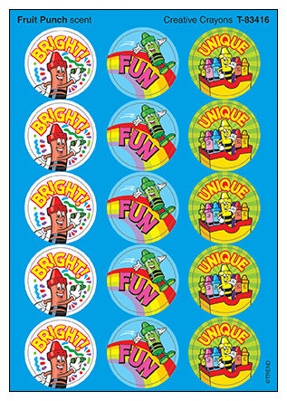 Creative Crayons Scratch 'n Sniff Stinky Stickers (Fruit Punch Scent)