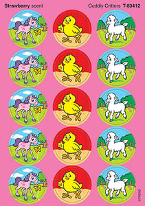 Cuddly Critters Scratch 'n Sniff Stinky Stickers (Strawberry Scent)