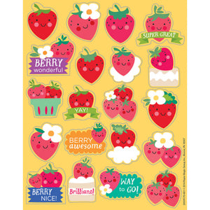 Strawberry Scented Stickers (80 stickers)