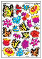 Garden Delights Floral Scented Scratch 'n Sniff Mixed Shape Stinky Stickers