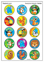 Awesome Animals Tropical Scented Scratch 'n Sniff Stinky Stickers *NEW!