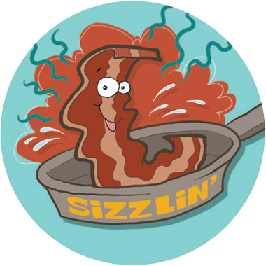Bacon Dr. Stinky Scratch -N-Sniff Stickers (2 sheets)