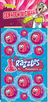 Razzles Raspberry Dr. Stinky Scratch-N-Sniff Stickers *NEW!