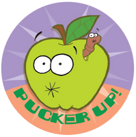 Sour Apple Dr. Stinky Scratch-N-Sniff Stickers