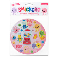 Bubble Gum Scented Smickers Scratch & Sniff Stickers