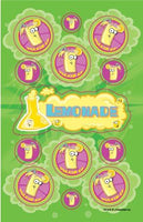 Lemonade Dr. Stinky Scratch -N-Sniff Stickers (2 sheets)