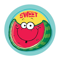 Watermelon Dr. Stinky Scratch-N-Sniff Stickers