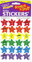 Colorful Star Smiles Stinky Stickers (Fruit Punch Scent/4 sheets)