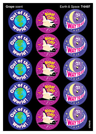 Earth & Space Scratch 'n Sniff Stinky Stickers (Grape Scent)