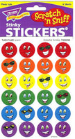 Colorful Smiles Stinky Stickers (Tutti-Frutti Scent/4 sheets)