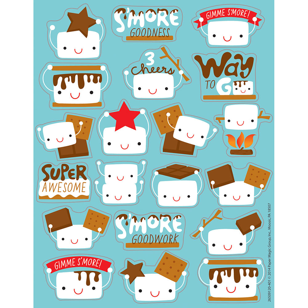 Marshmallow S'mores Scented Stickers (80 stickers)