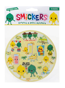 Lemon-Lime Smickers Scratch & Sniff Stickers (2 sheets)