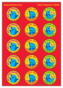Seal of Approval Caramel Corn Scented Scratch 'n Sniff Stinky Stickers *NEW!