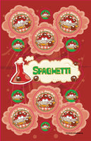 Spaghetti Dr. Stinky Scratch-N-Sniff Stickers (2 sheets) *NEW!