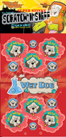 Wet Dog Dr. Stinky Scratch -N-Sniff Stickers (2 sheets)