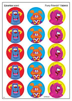 Furry Friends Scratch 'n Sniff Stinky Stickers (Licorice Scent)