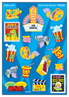 Marvelous Movies Mixed Shape Scratch 'n Sniff Stinky Stickers (Cola Scent)