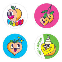 Peach Scratch n Sniff Stickers *NEW!