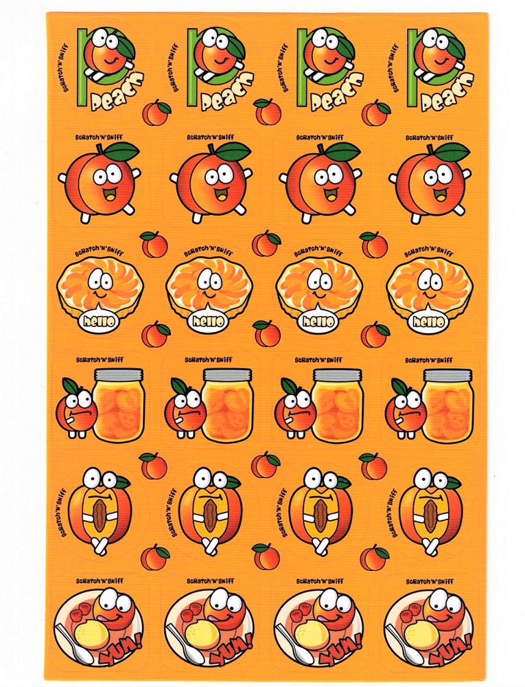 Peach Scratch 'n' Sniff Stickers *NEW!