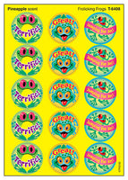 Frolicking Frogs Scratch 'n Sniff Stinky Stickers (Pineapple Scent)