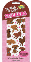Chocolate Labs Scratch and Sniff Stickers