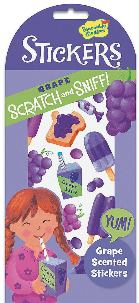 Grape Scratch and Sniff Stickers