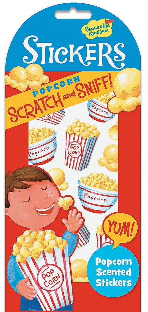 Popcorn Scratch and Sniff Stickers