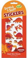 Red Hot Dinos Scratch and Sniff Stickers