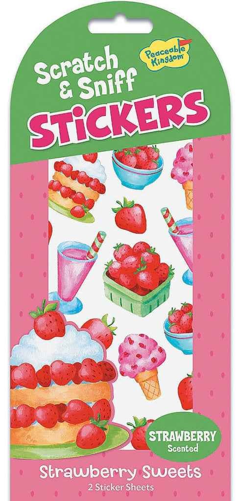 Strawberry Sweets Scratch and Sniff Stickers