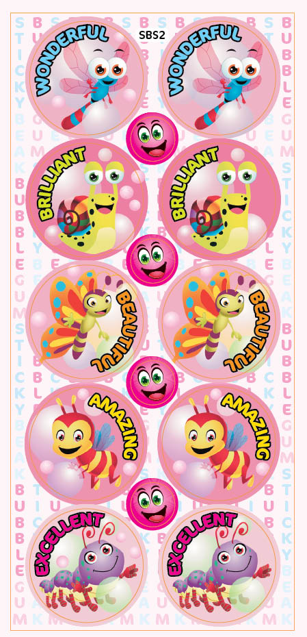 Sticky Beak Bubble Gum Scratch 'n' Sniff Stickers