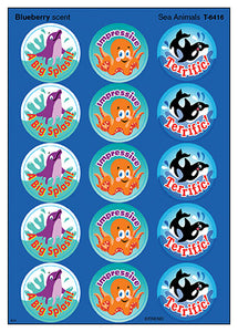 Sea Animals Scratch 'n Sniff Stinky Stickers (Blueberry Scent)