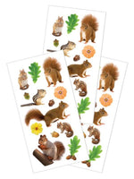 Backyard Critters Squirrel Stickers (Unscented)
