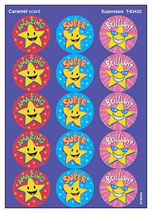 Superstars Scratch 'n Sniff Stinky Stickers (Caramel Scent)
