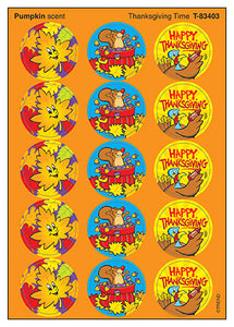 Thanksgiving Time Scratch 'n Sniff Stinky Stickers (Pumpkin Scent)